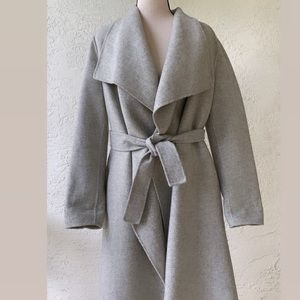 Zara Hand Made Gray Wrap Coat/Jacket